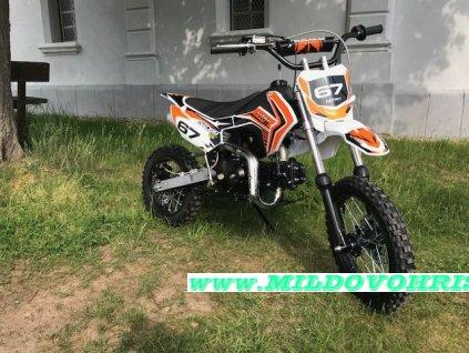 Dětská motorka JUGEND CROSS DIRTBIKE 125cc - oranžová