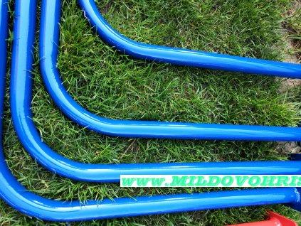 Šplhací tyč kovová modrá 32