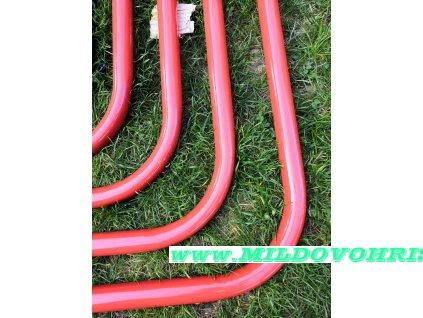 Šplhací tyč kovová červená 32