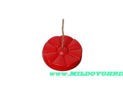 disk kytka cerveny