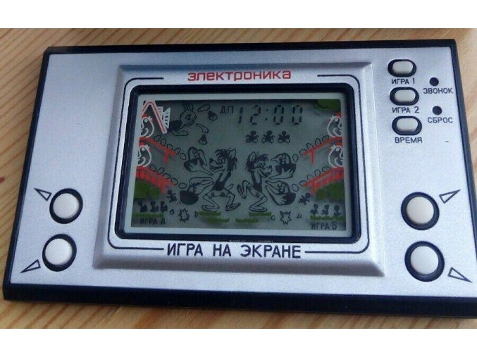 3112 19 stara ruska digitalni digi hra jen pockej zajici vlk a vajicka elektronika