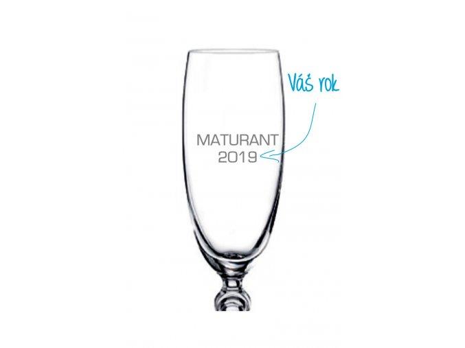 Maturitní sklenička 001 - klasik