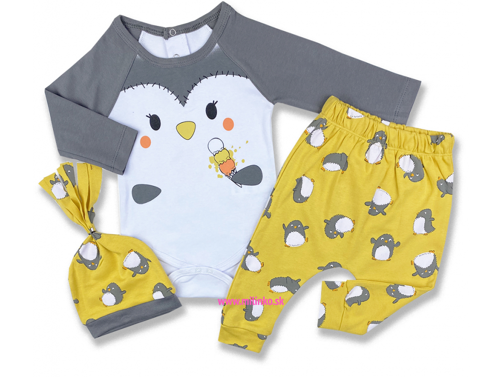 oblečenie pre bábätká tučniak2