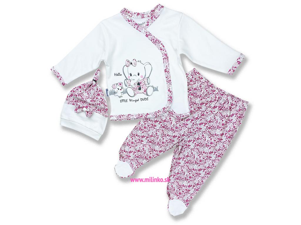 kojenecké oblečenie set pre bábätká slonik