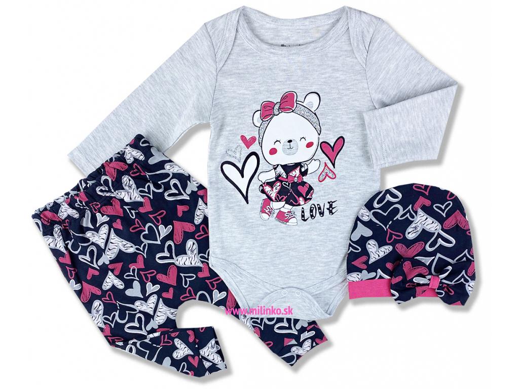 oblečenie pre bábätká#love bear2