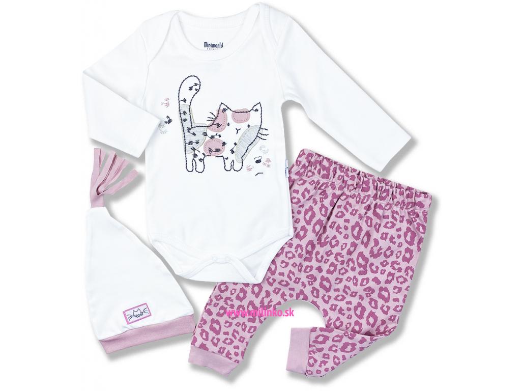 3dielny kojenecký set Strakatá mačička