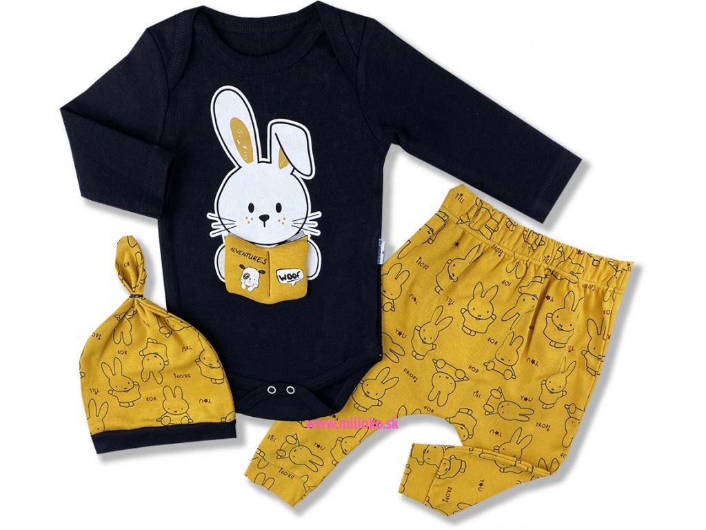 oblečenie pre bábätká zajačik číta