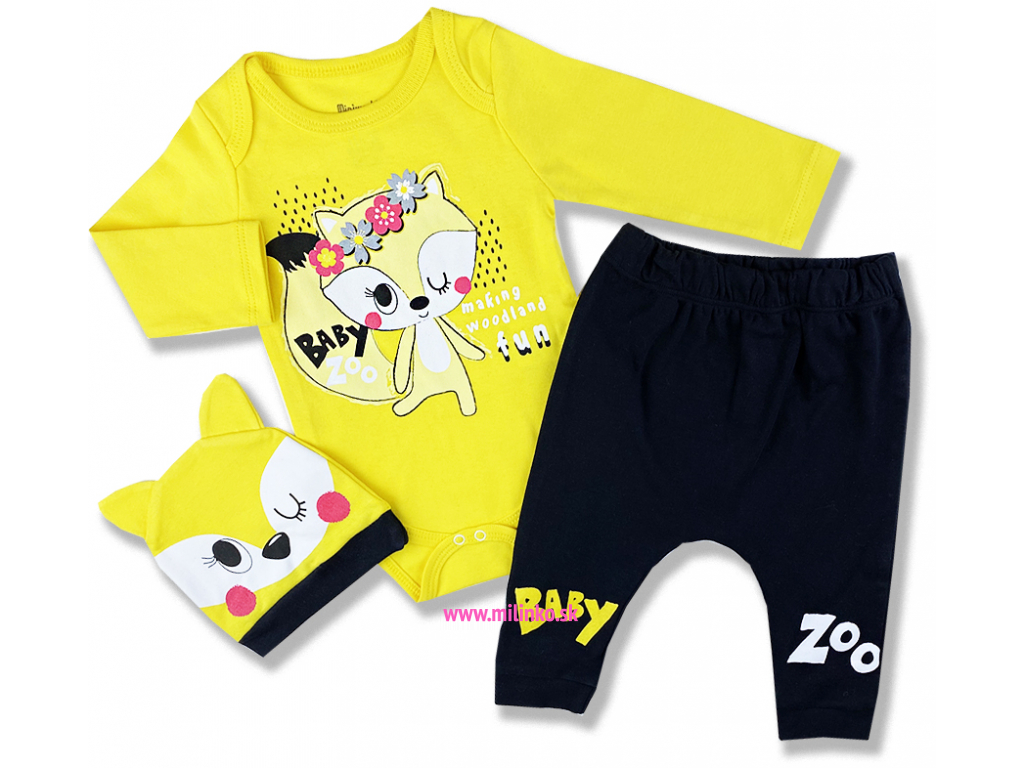 kojenecké oblečenie set líška