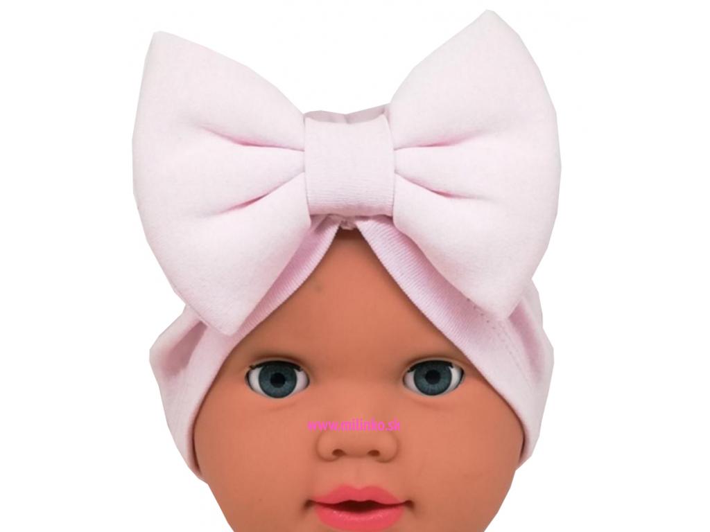 čiapka pre bábätká bledoruž copy
