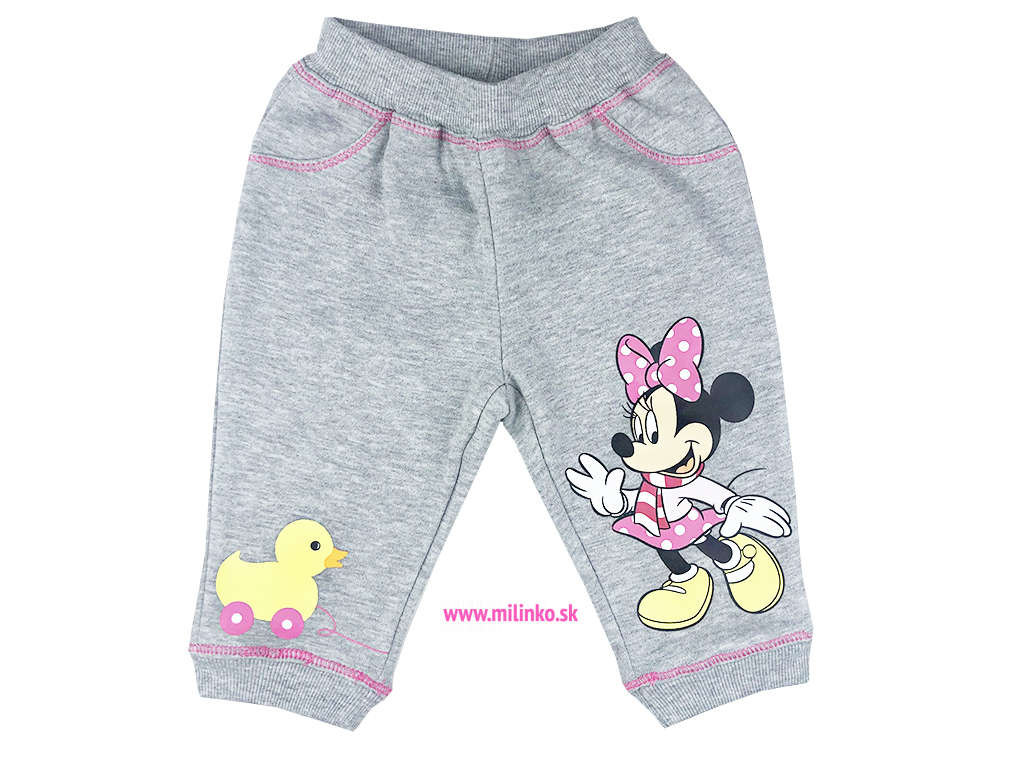 teplé kojenecké nohavice minnie mouse