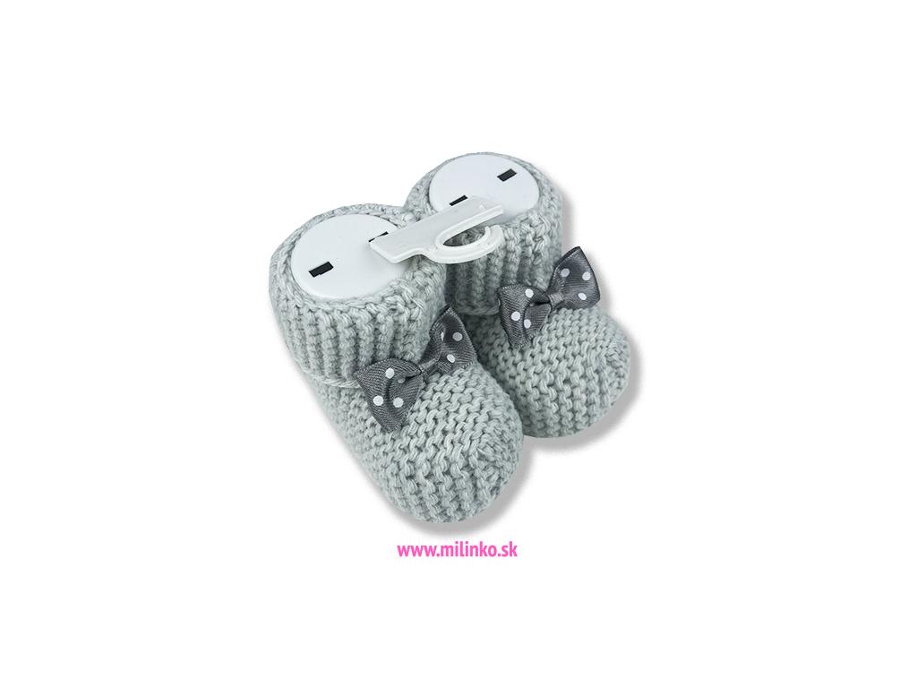 ponožky pre bábätká sivé
