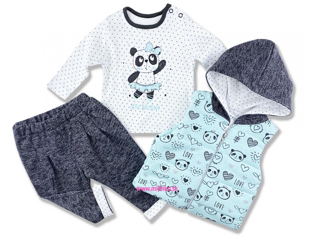 kojenecké oblečenie set panda
