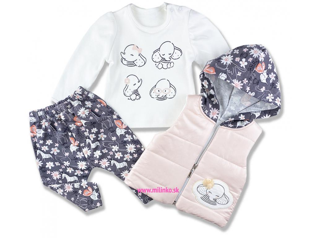 kojenecké oblečenie set sloník