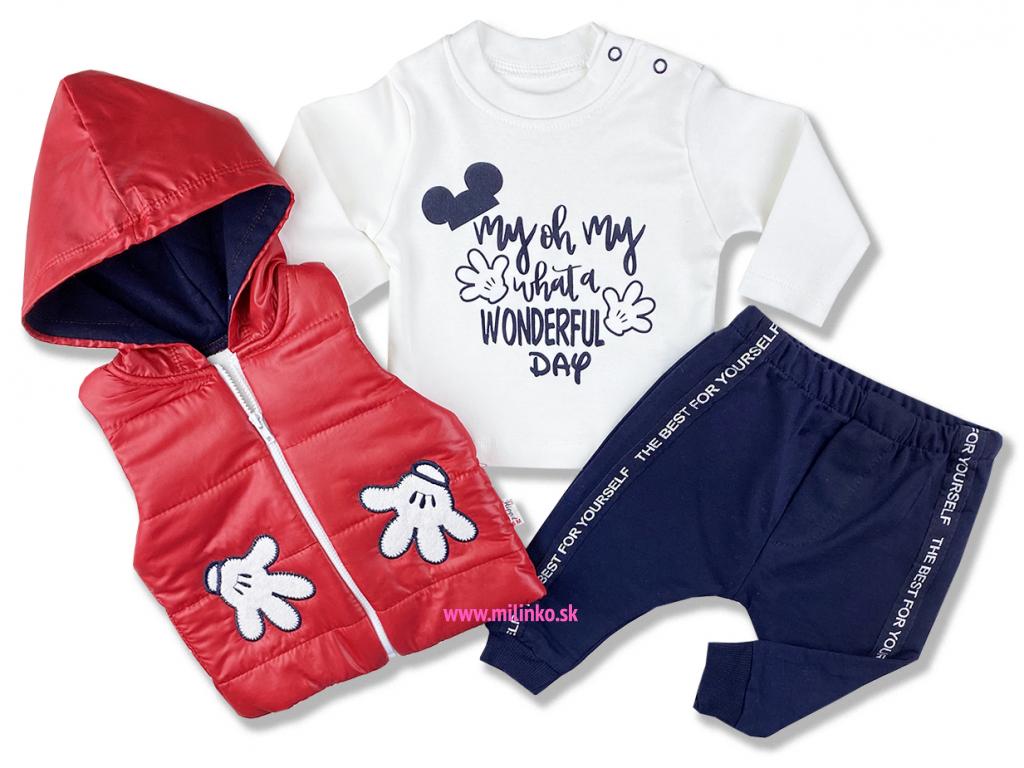 kojenecké oblečenie červené set1