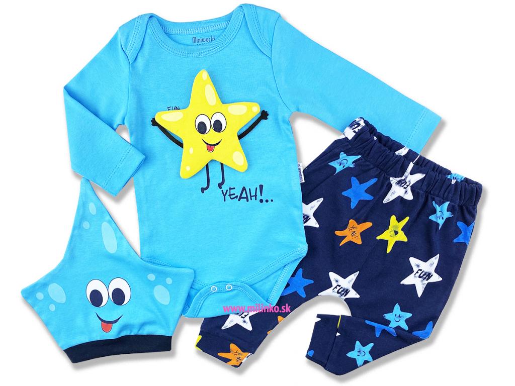 kojenecké oblečenie hviezda