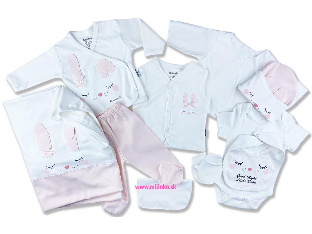 10 dielný dojčenský set zajac