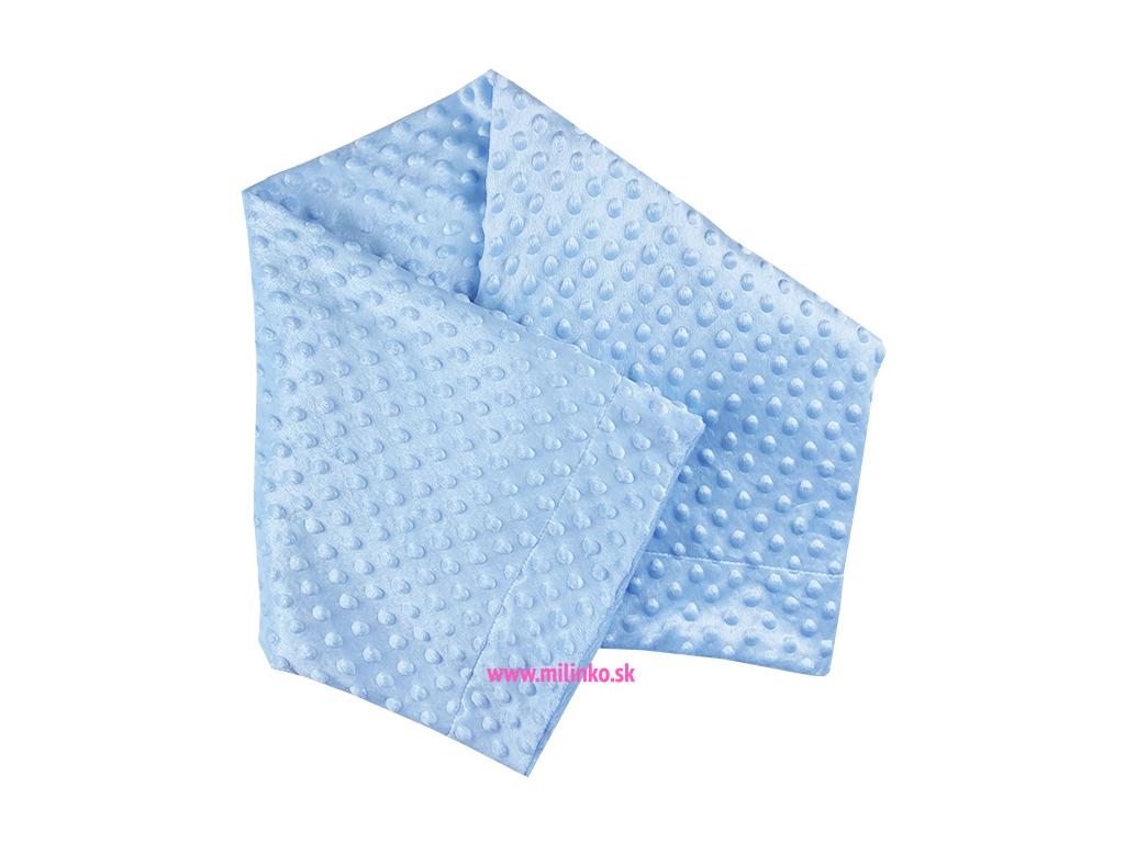 deka fluffy modrá