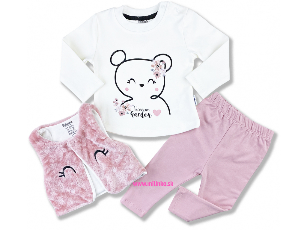 3dielny set s vestičkou oblečenie pre bábätká