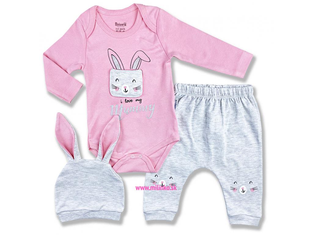 3dielny kojenecký set zajko