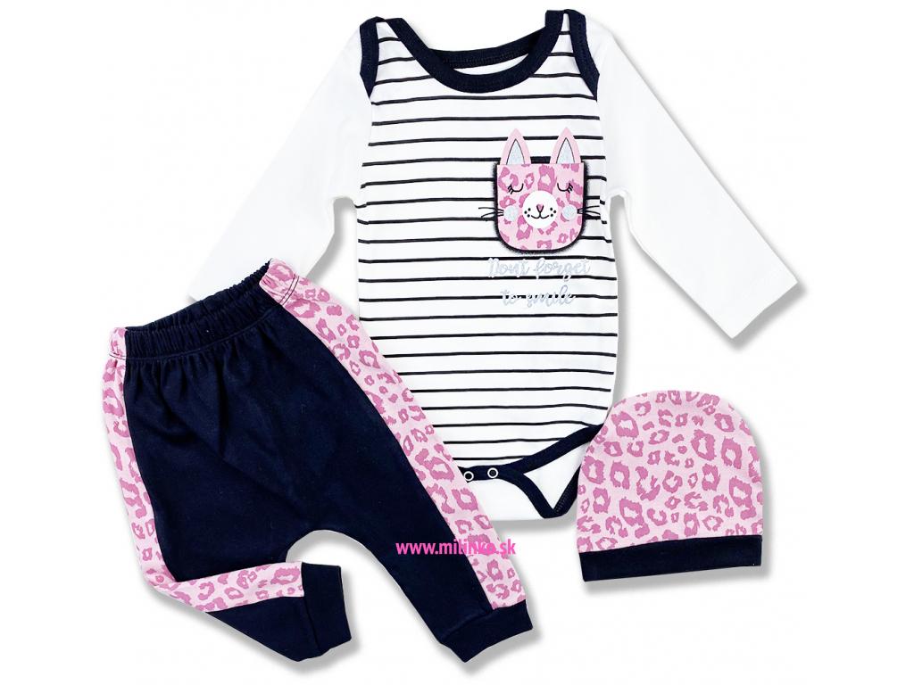 3dielny kojenecký set Leopard, ružový1