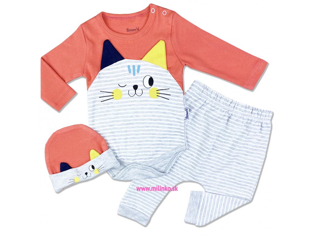 3dielny kojenecký set Mačička