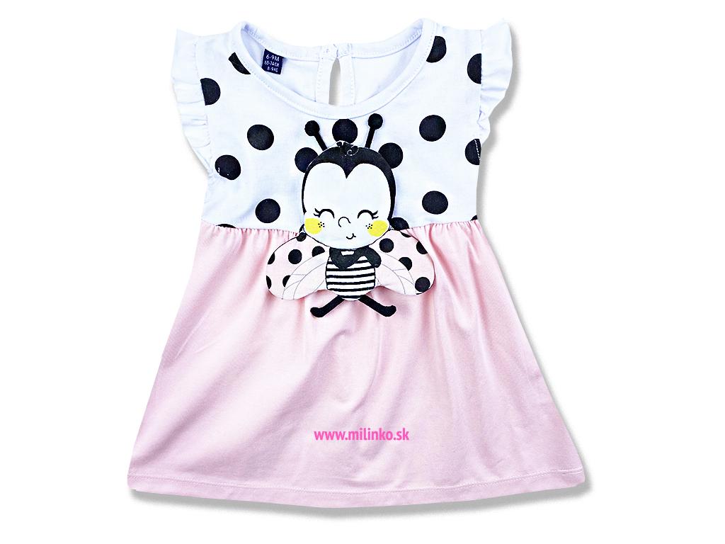 Letné šaty pre bábätká Lienka1..., ružové