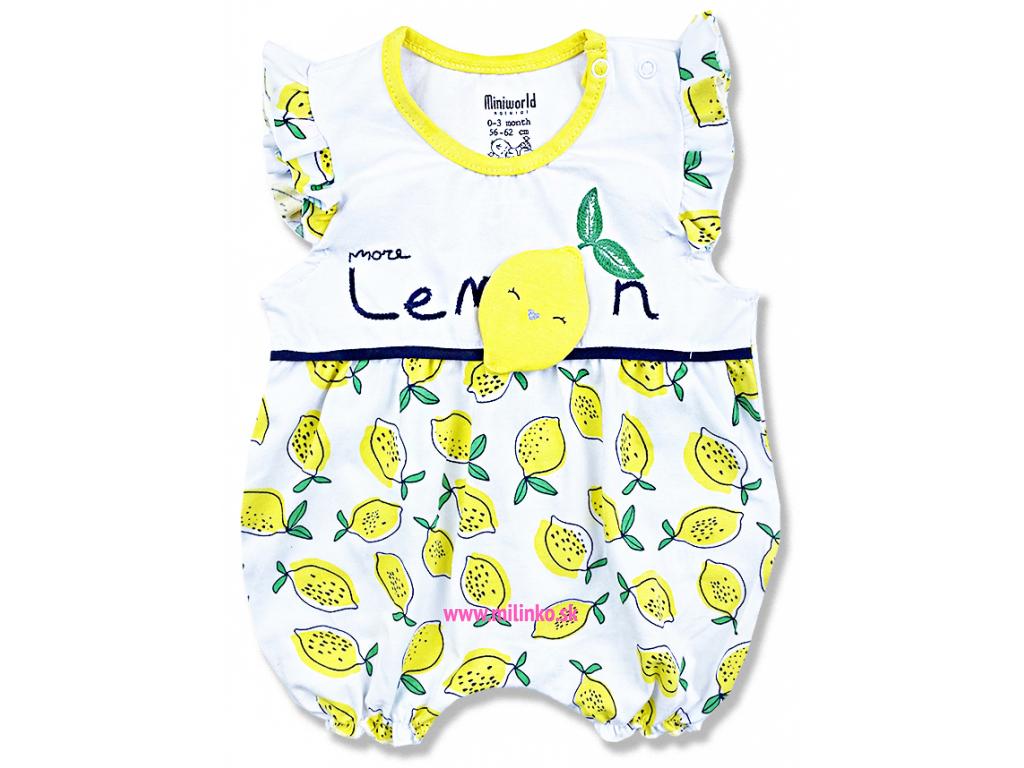 Letný overal pre bábätká Lemon1