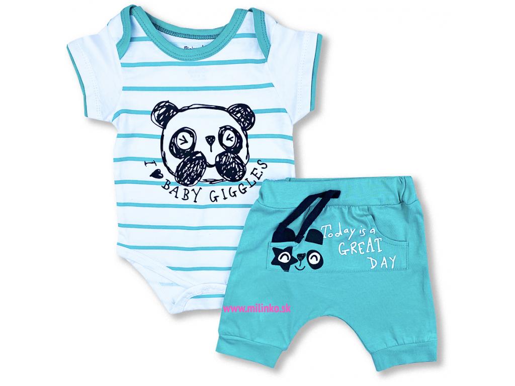 2dielny letný set pre bábätká panda