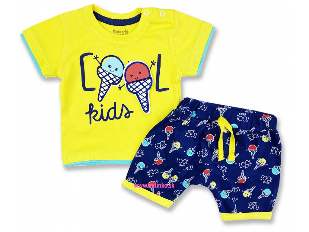 2dielny letný set pre bábätká Cool Kids