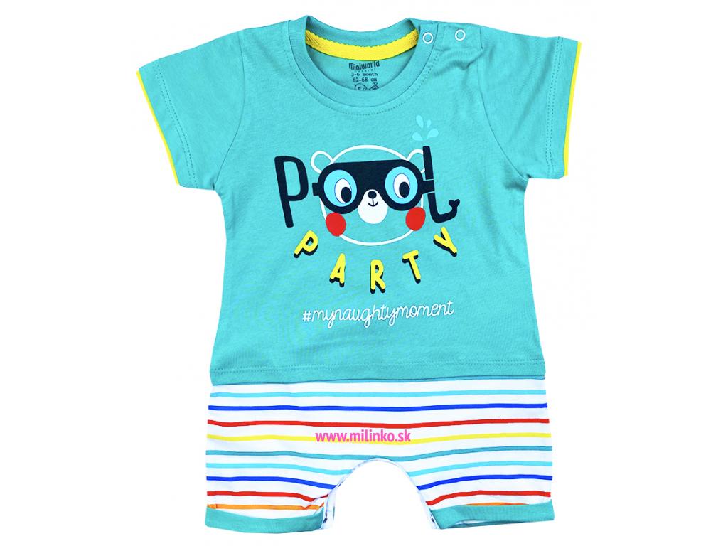 Letný overal pre bábätká Pool Party2
