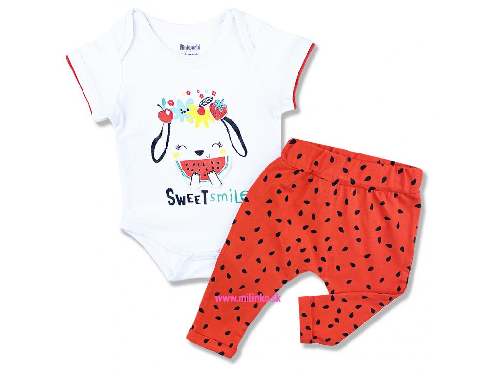 2dielny set pre bábätká1 Melón, červený