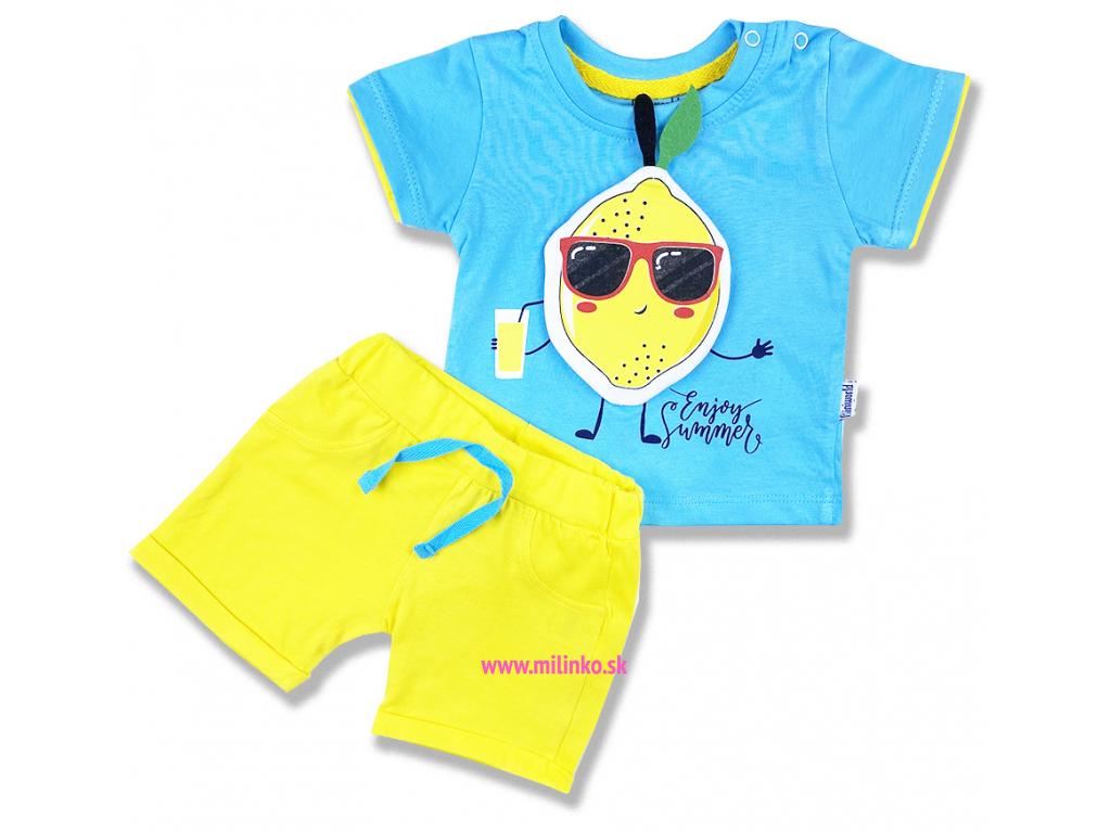 2dielny letný set pre bábätká citron1