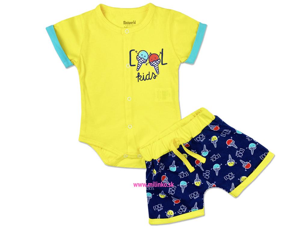 2dielny set pre bábätká Cool Kids, žltý1