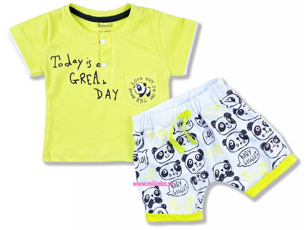 2dielny set pre bábätká Panda, zelený