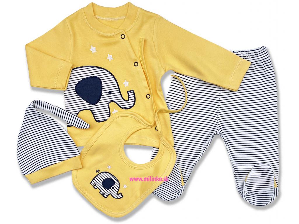4dielny letný set pre bábätká slon
