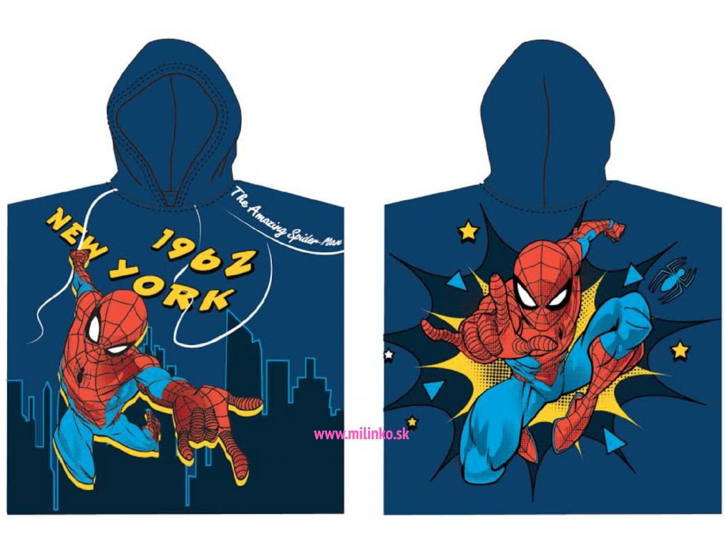 detské pončo spiderman1