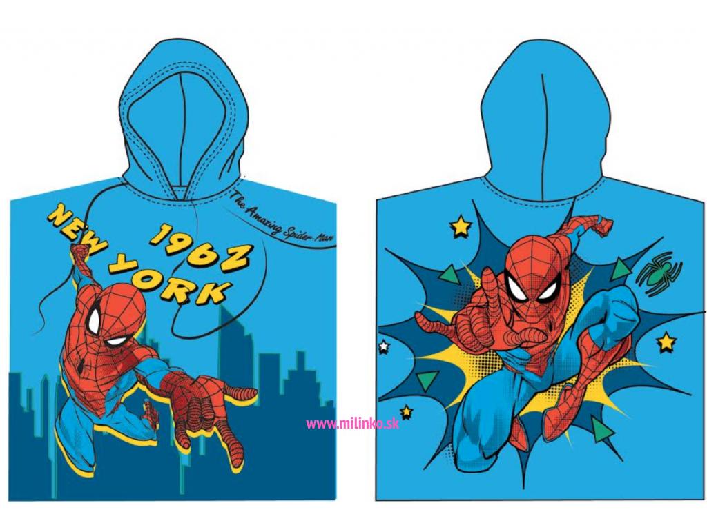 detské pončo spiderman