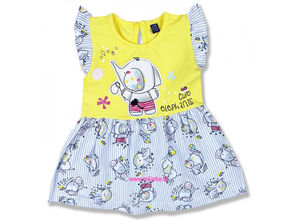 šaty pre bábätká elefant