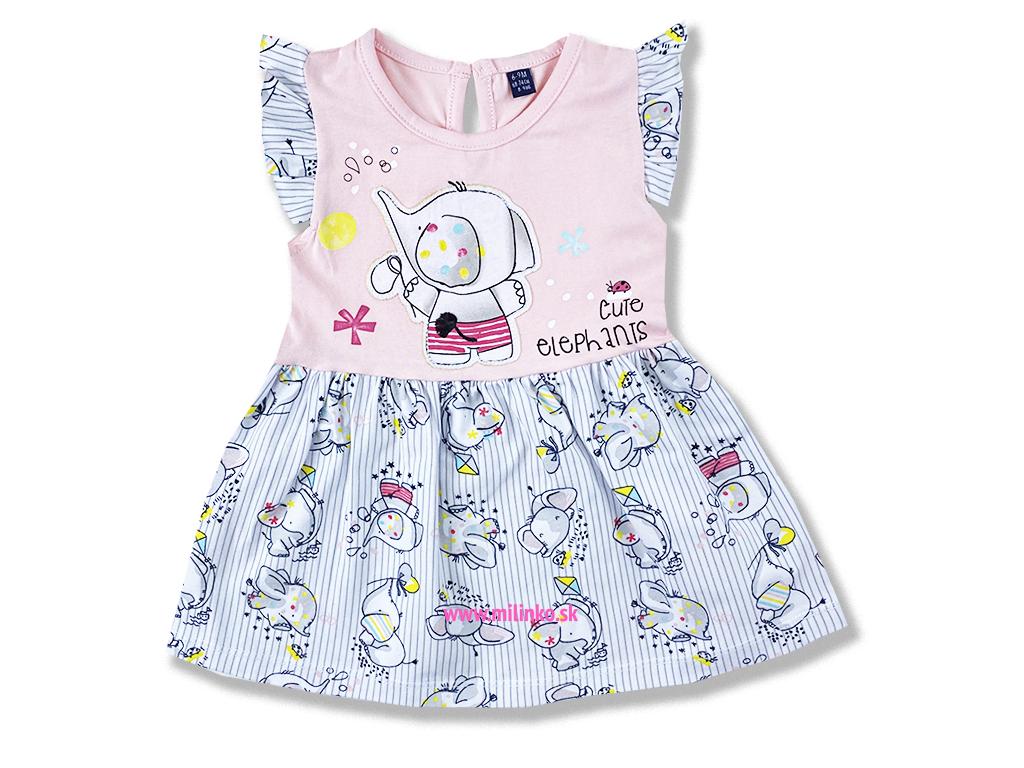 šaty pre bábätká slonik1