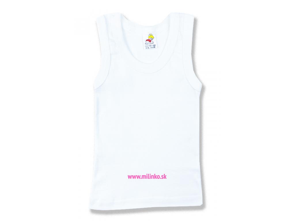 tričko pre bábätká biele