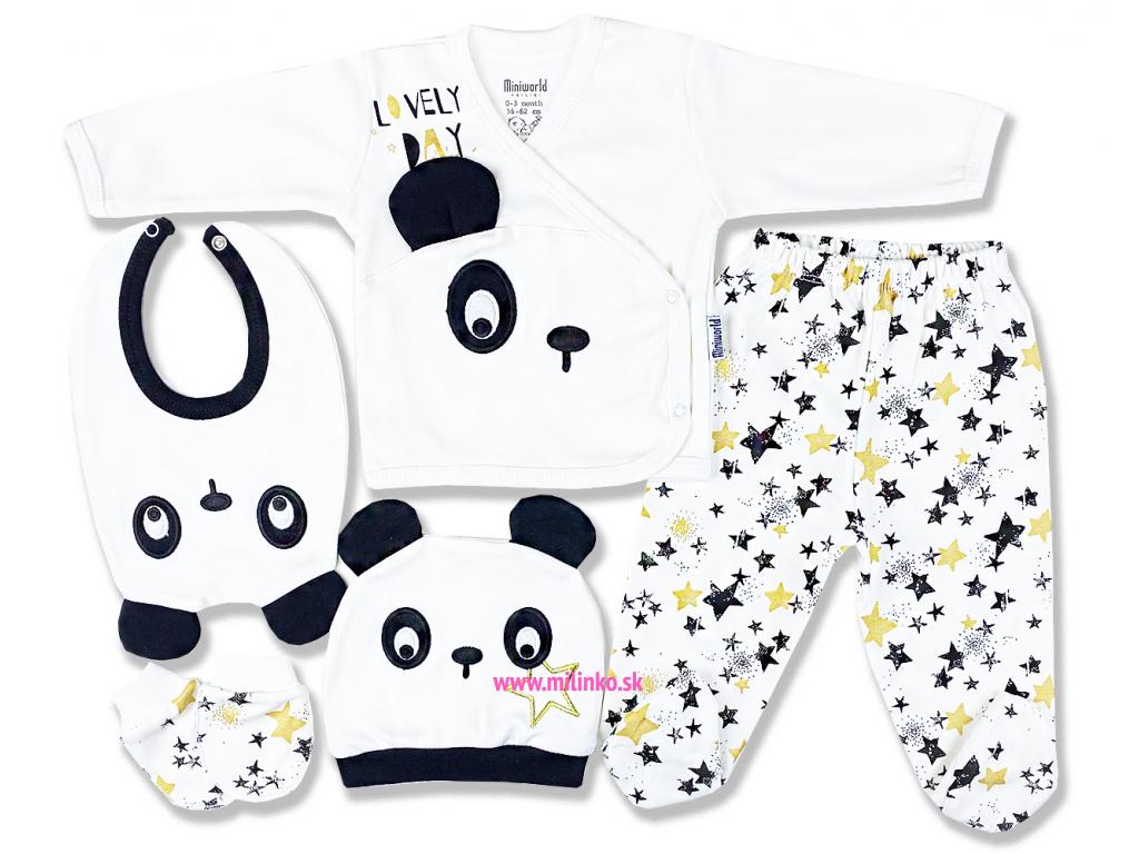 5dielna kojenecká súprava – Darčekové balenie, Panda