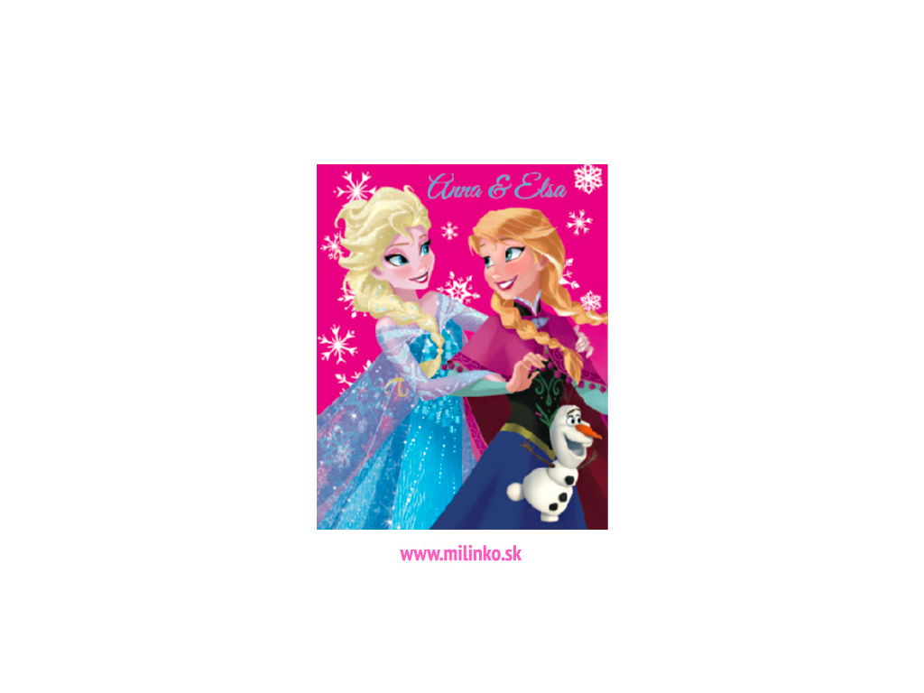 Detská deka Fleesová - Frozen, ruž. 120x150cm