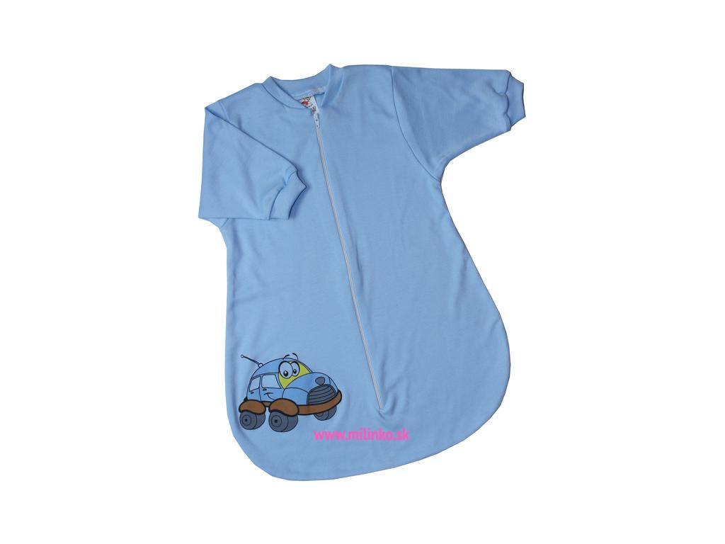 Spací vak pre bábätká– CAR, modrý