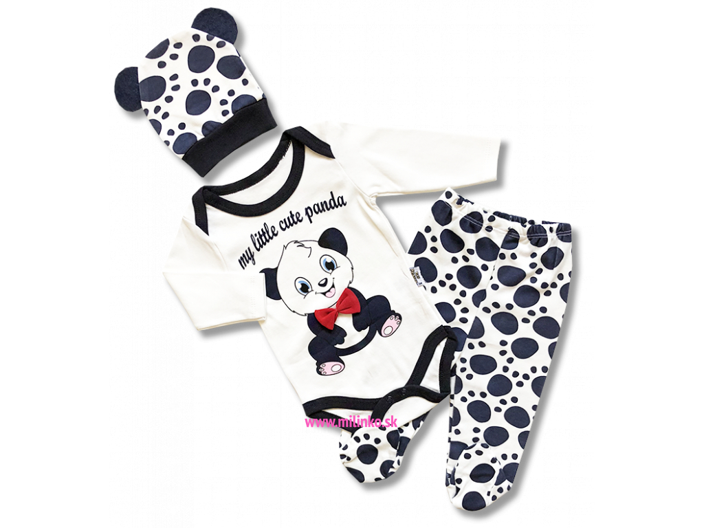 8a4ed7ae7746 3dielny kojenecký set - Panda - Eshop-Milinko