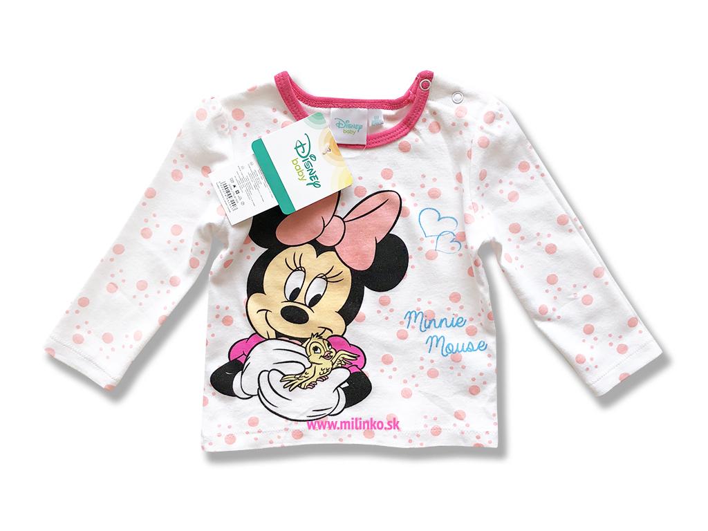 60600ec71 Kojenecké tričko pre dievčatá - MINNIE, biele - Eshop-Milinko