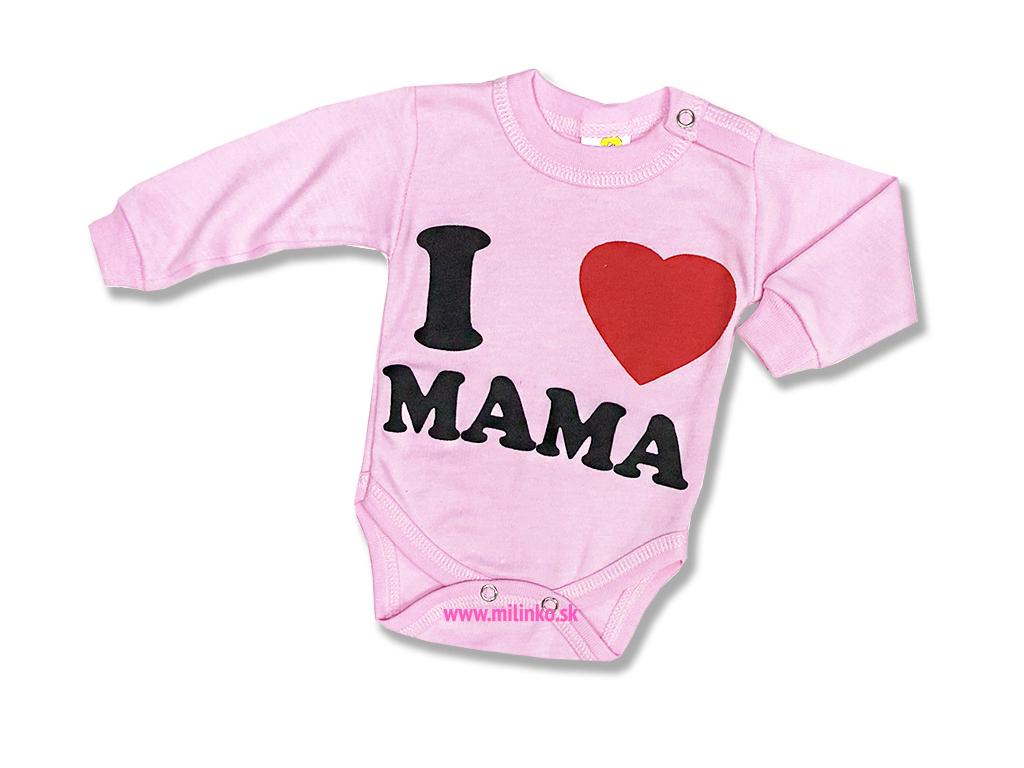 85f81e70c Detské body - I love Mama, ružové - Eshop-Milinko
