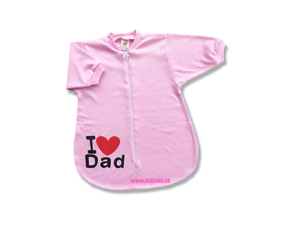 229a3e9ab Spací vak pre bábätká - Dad, ružový - Eshop-Milinko