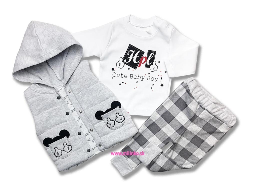 4852ee111079 3dielny chlapčenský set pre bábätká - BABY