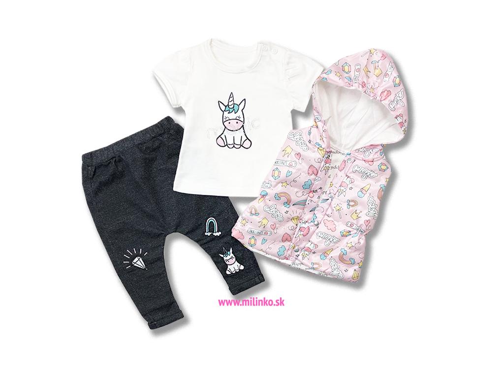 4986239236fc 3dielny dievčenský set pre bábätká - Unicorn - Eshop-Milinko