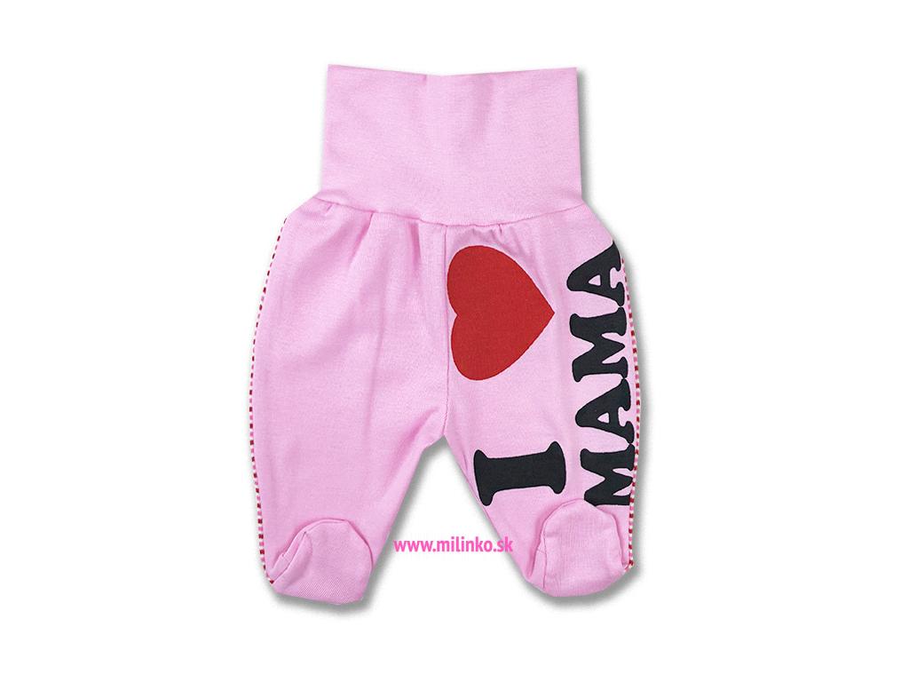 kojenecké polodupačky mama ružové